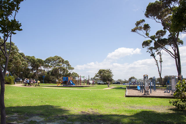 Playground & Outdoor Fitness Gym - across the road