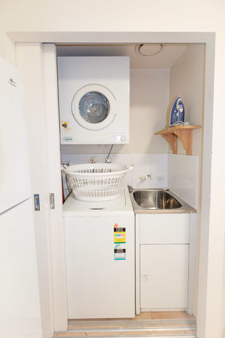 Washing machine and dryer in all units